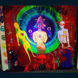 Day 6  #muralpaintings #wip #blacklightstreetart  #streetartistry #streetartbk #crownheights #brookl