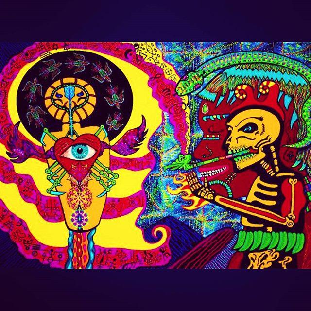 _Trancing Being_ 32 x 40_ #acryliconcanvas #visionaryart #shamanicart #psychedelicart #dmt #psylocib