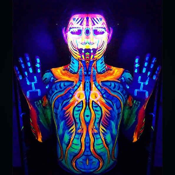UV bodypaint by Myztico
