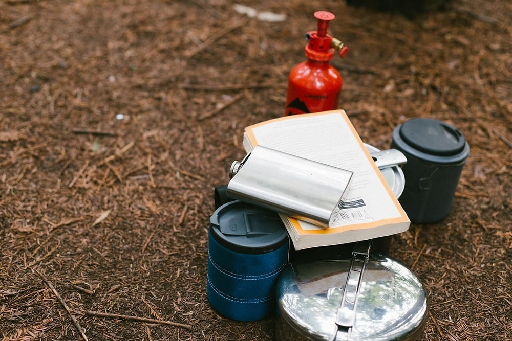 Camping-equipment-in-woodland