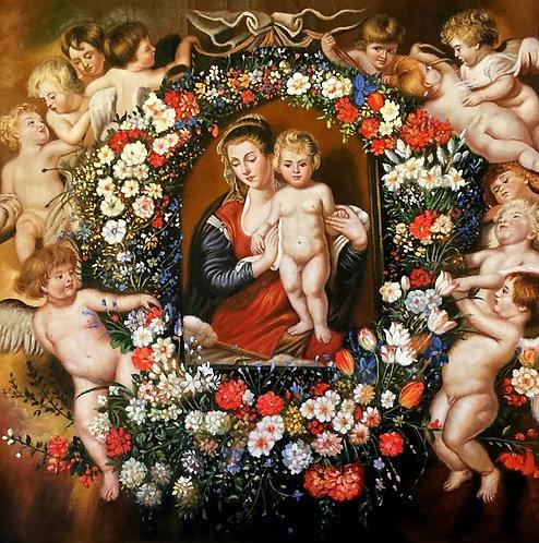Мадонна в венке из цветов (копия П. Рубенса)