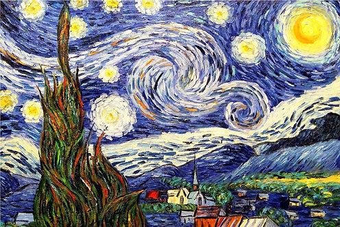 Звездная ночь (копия Ван Гога)