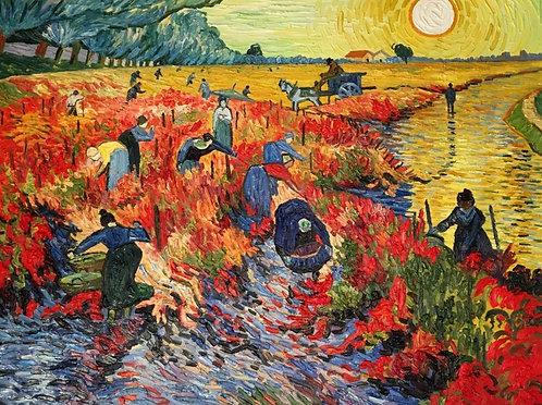 Красные виноградники в Арле (копия Ван Гога)