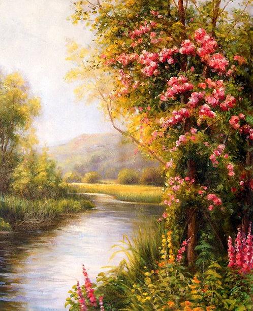 Пейзаж с видом на реку