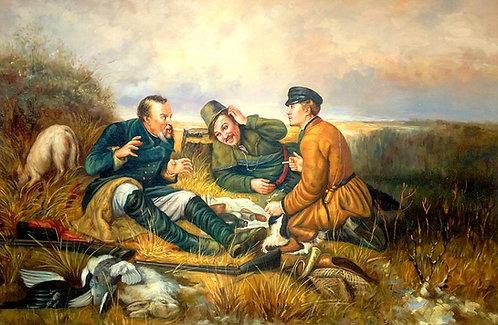 Охотники на привале (копия В.Г. Перова)