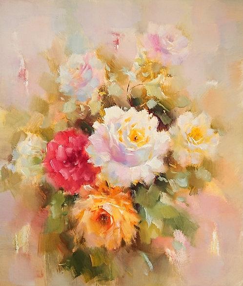 В саду (Цветущие розы)