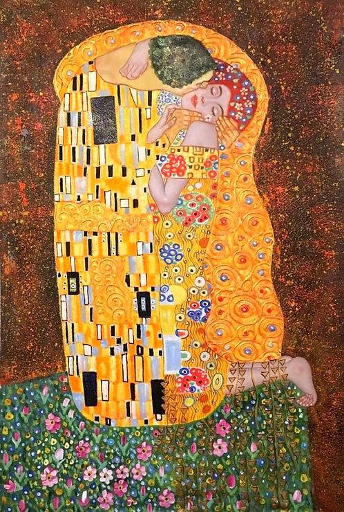 Поцелуй (копия Климта)
