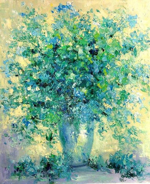 Букет голубых цветов
