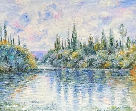Вид на реку. копия Моне