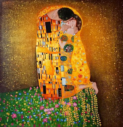 Поцелуй.копия Г.Климта