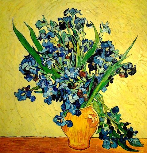 Ваза с ирисами (копия Ван Гога)