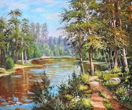 Лесное озеро (серия Летний пейзаж)