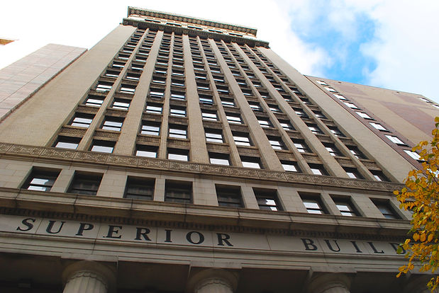 The Historic Superior Building. Downtown Cleveland Office Space.