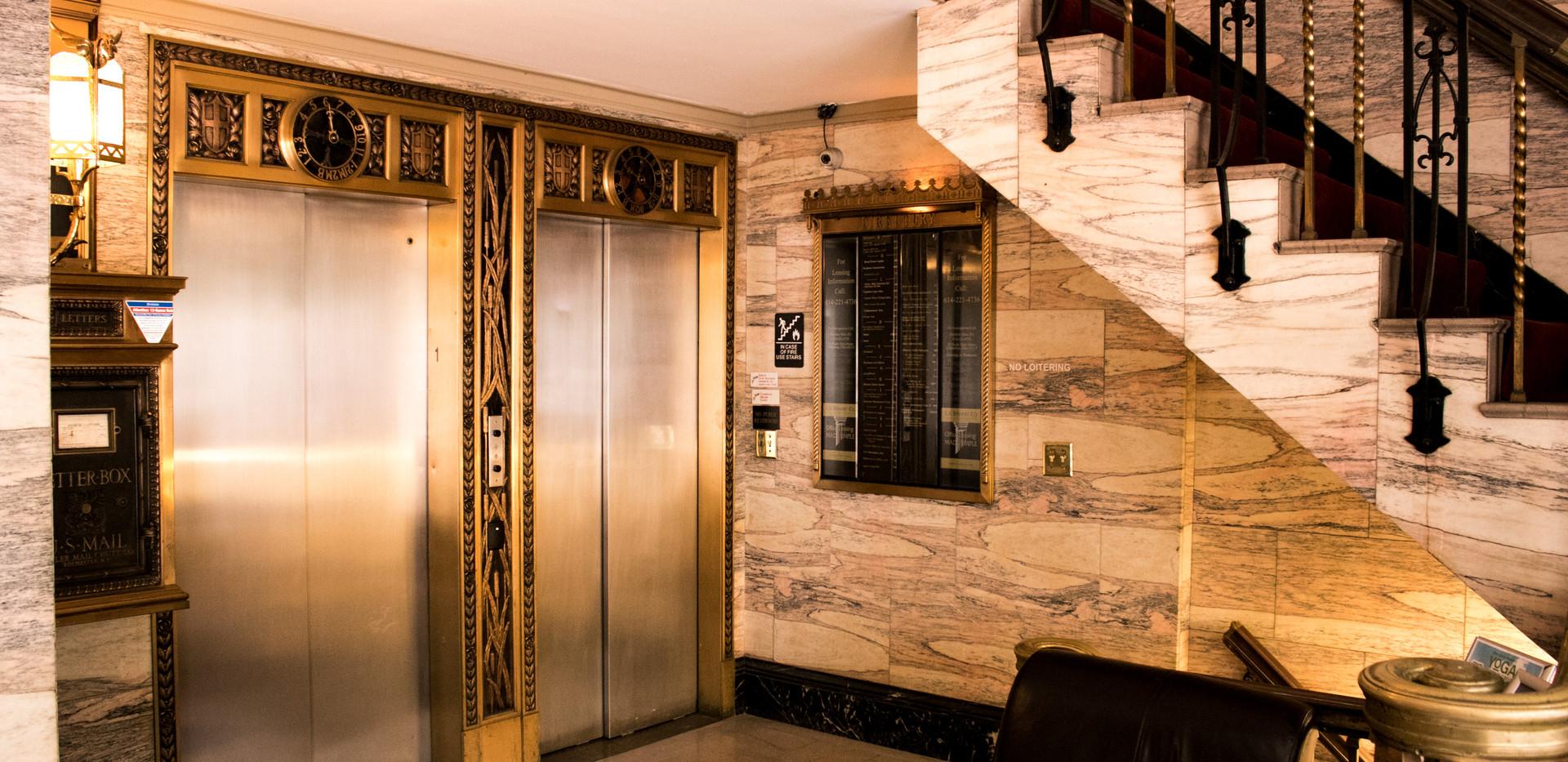Beautiful Marble Elevator Lobby