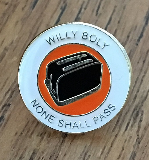 WILLY BOLY Toaster Badge (White/Gold/Black) WB6