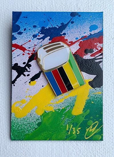 World Champion Enamel Pin Badge (White Toaster)