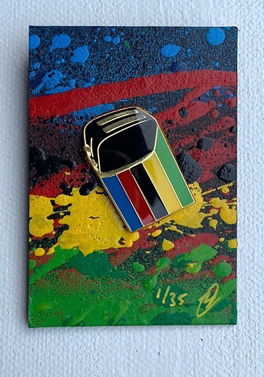 World Champion Enamel Pin Badge (Black Toaster)