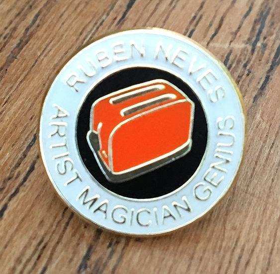 NEVES Toaster Badge (White/Black/Gold) RN11