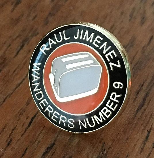 RAUL JIMENEZ Toaster Badge (BLACK/GOLD/WHITE) RJ7