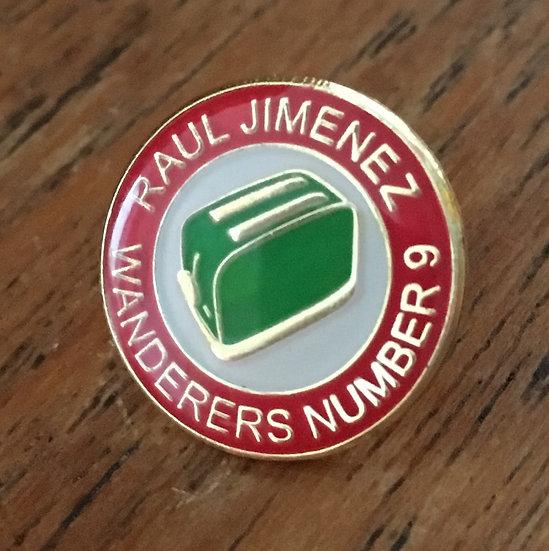 RAUL JIMENEZ Toaster Badge (Red/White/Green) RJ10