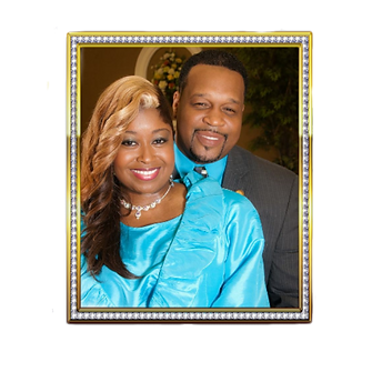 Bishop Charles & Lady Shaunda Young Chocolate and Topaz Suits