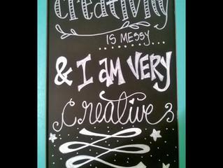 New Studio Chalkboard Sign