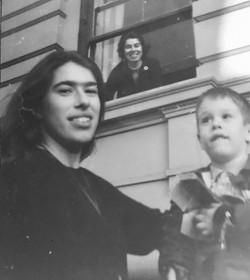 Franci with children Helen & David 1964
