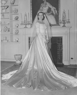 Wedding dress designed for Jarmilka Novotna