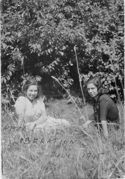 Kitty and Franci Shortly After Liberation 1945