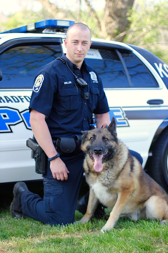 Officer Miller and K9 Max