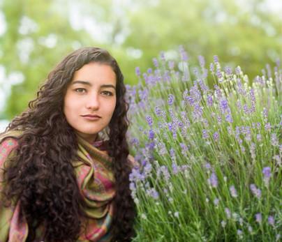 Model outdoor portrait