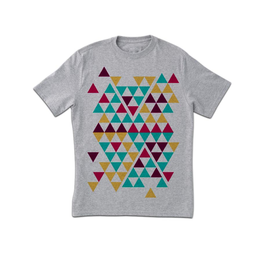 Kühle Triangles Drucken T-Shirt