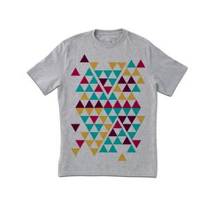 Triangoli freddo T-shirt stampata