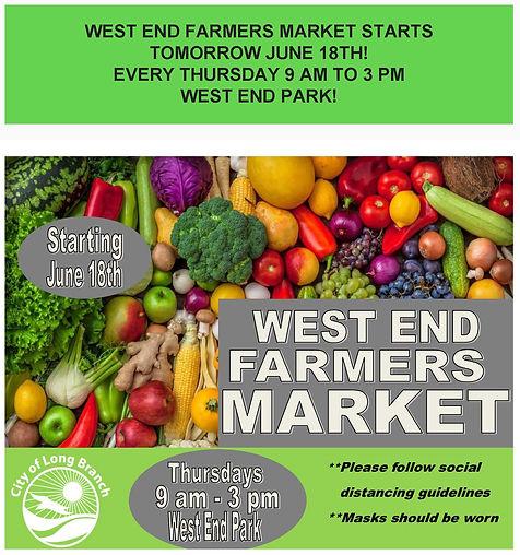 West End Farmers Market Starts Tomorrow