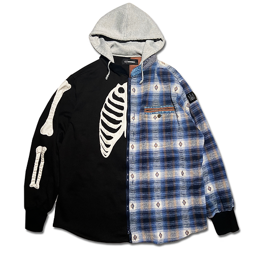 Autumn Bones Parka Zip Up Hoodie