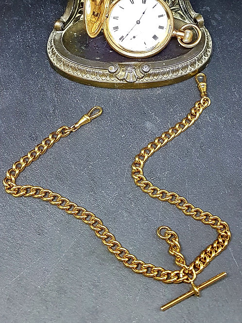 Double rolled gold Albert chain. Display