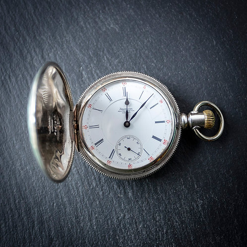 Waltham Coin Silver Crescent St 1883 Full Hunter Pocket Watch