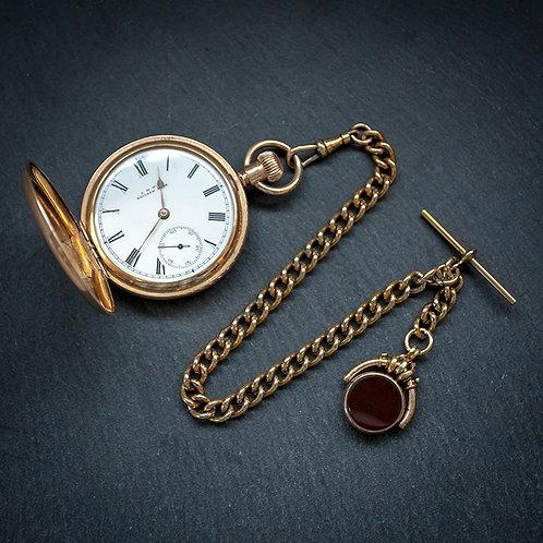 Victorian Waltham Model 1888 14ct Full Hunter Pocket Watch