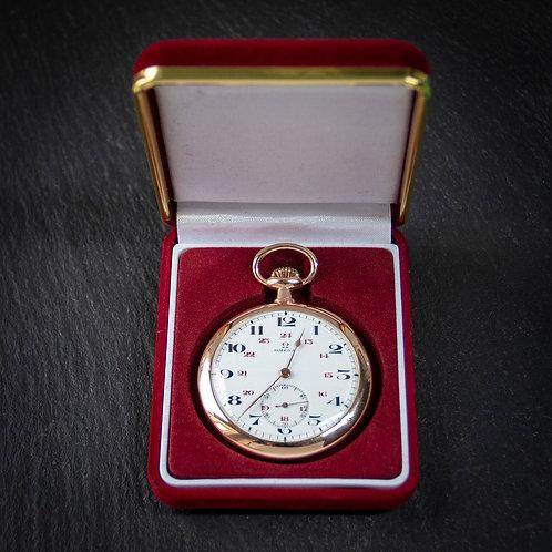 14k Solid Gold Omega 17 jewel Pocket Watch
