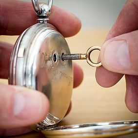 Key wind pocket watch.