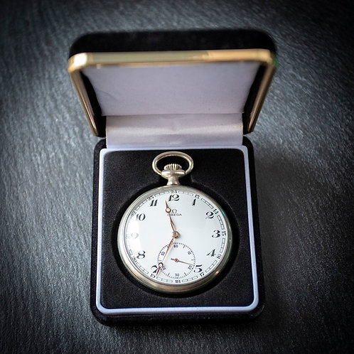 Omega 15 jewel Pocket Watch + Box 1961