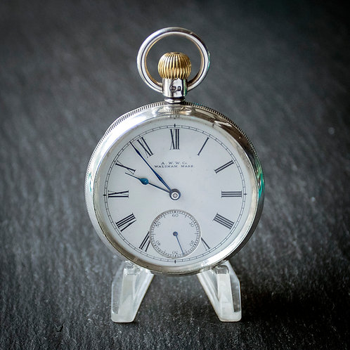 Victorian Waltham 1888 Sterling Silver Pocket Watch