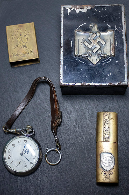 Wehrmacht SS WWII Watch + Items