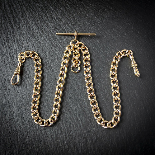 Double Rolled Gold Albert Chain