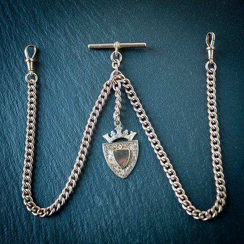 Solid 9ct Rose Gold Double or Long Single Albert Chain
