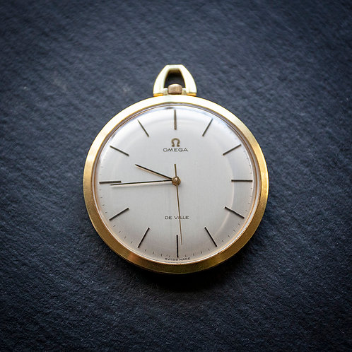 * 50th Birthday Gift * Outstanding 1970 Omega 17 jewel Cal 601 Pocket Watch