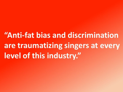Fat-shaming. Bullying. Is Anyone Protecting Our Young Singers?