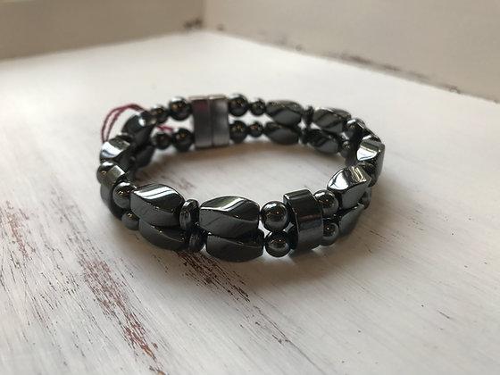 Double Strand GunMetal Bracelet/Anklet