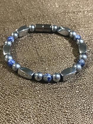 Silver Magnetic Hematite Bracelet