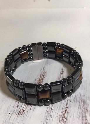 Men's  Quad Tiger Eye Bracelet